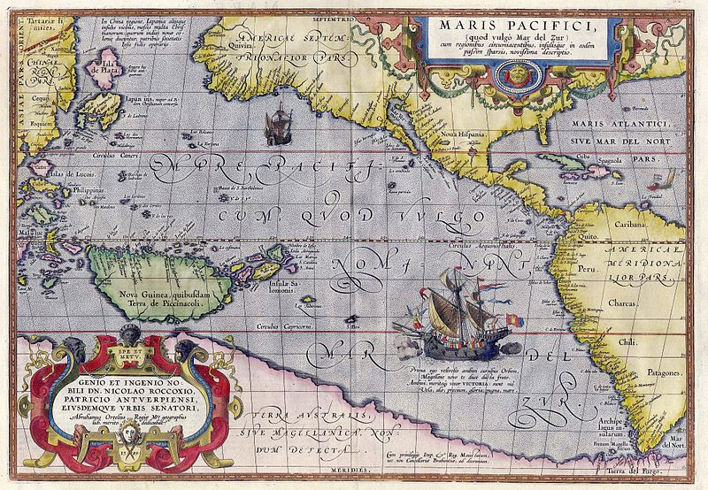 Карта Тихого океана работы Абрахама Ортелия / Wikimedia Commons